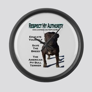 """""""Respect"""" Large Wall Clock"""