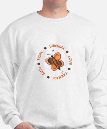 Hope Courage 1 Butterfly 2 ORANGE Sweater