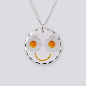 Mr. Egg Face Necklace Circle Charm