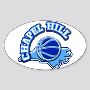 Chapel Hill Basketball Oval Sticker