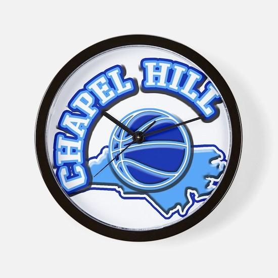 Chapel Hill Basketball Wall Clock