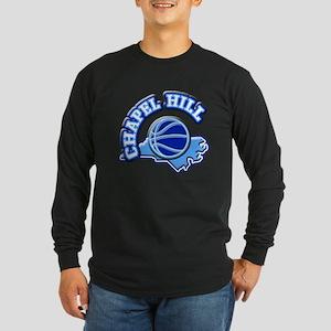Chapel Hill Basketball Long Sleeve Dark T-Shirt