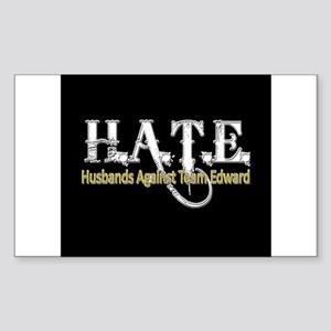 HATE - Husbands Against Team Rectangle Sticker
