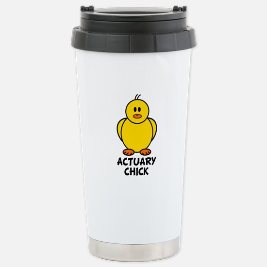 Actuary Chick Stainless Steel Travel Mug