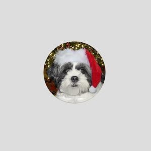 Christmas Shih Tzu Mini Button