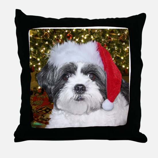 Christmas Shih Tzu Throw Pillow