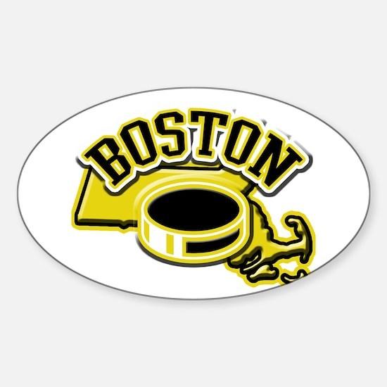 Boston Hockey Oval Decal