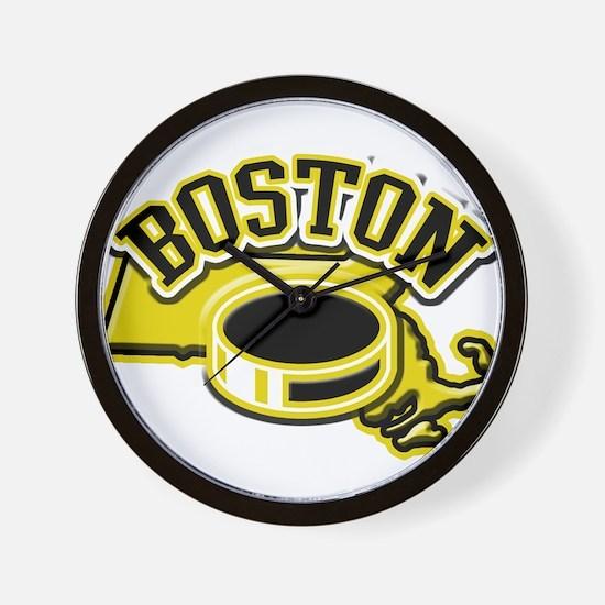 Boston Hockey Wall Clock