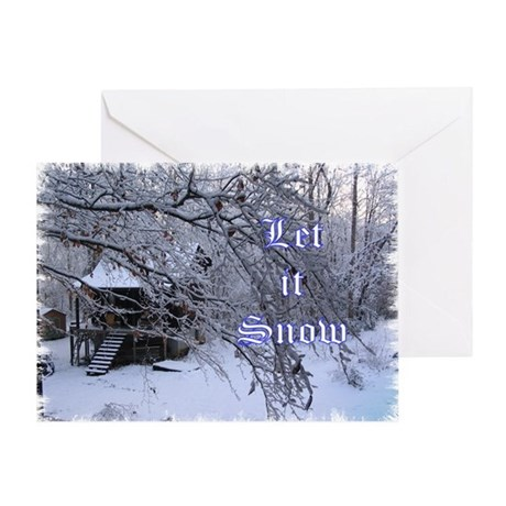 Let it Snow - Log Cabin Greeting Card
