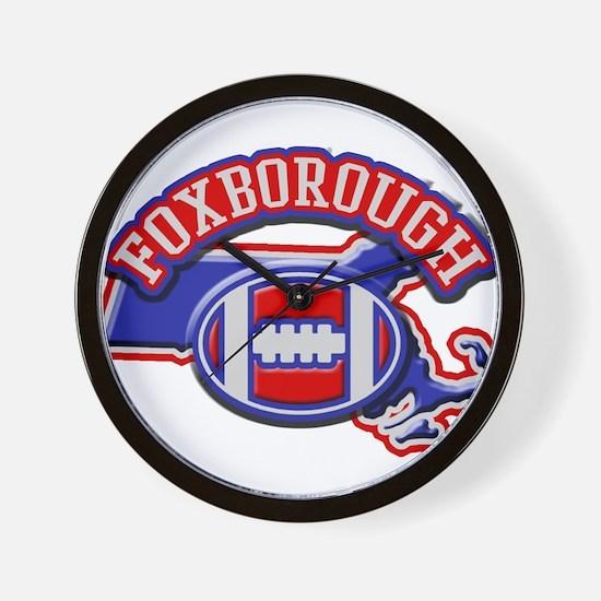 Foxborough Football Wall Clock