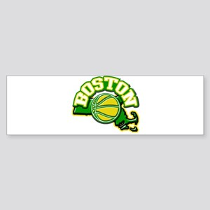 Boston Basketball Bumper Sticker