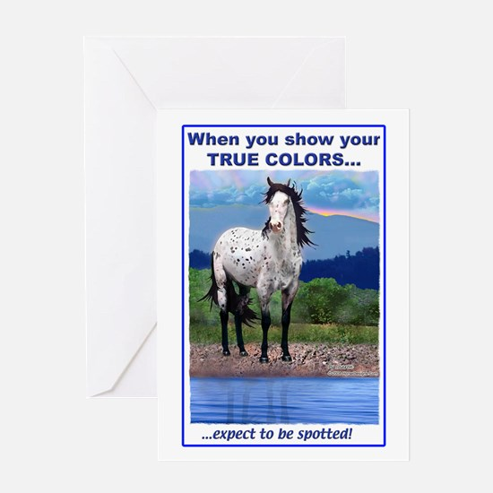 True Colors Leopard Appy Greeting Card