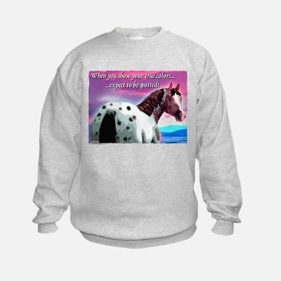 Purple Sky Leopard Appaloosa Sweatshirt