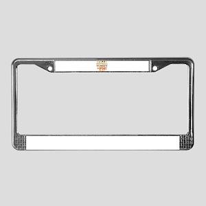 Football Turkey And Pie License Plate Frame