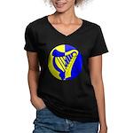 Caer Galen populace Women's V-Neck Dark T-Shirt