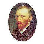 Van Gogh Oval Ornament