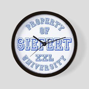 Property of Siefert University Wall Clock