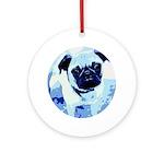 Le Pug Ornament (Round)
