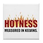 Hotness Measured in Kelvins Tile Coaster