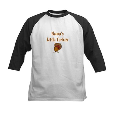 Nana's Little Turkey Kids Baseball Jersey