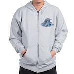 Happy Dolphin Zip Hoodie