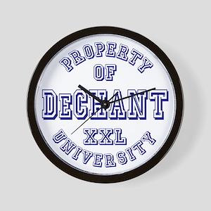 Property of DeChant Last Name University Wall Cloc