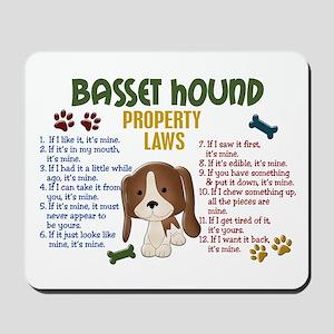 Basset Hound Property Laws 4 Mousepad