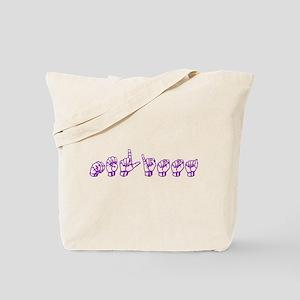 Melissa-asl Tote Bag