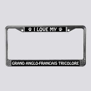 I Love My Grand-Anglo Francais License Plate Frame