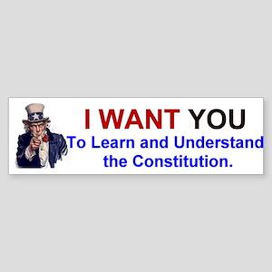 Learn the Constitution Bumper Sticker