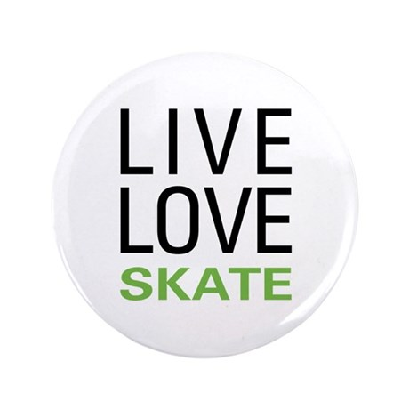 "Live Love Skate 3.5"" Button (100 pack)"