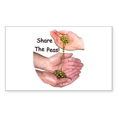 Share The Peas Rectangle Decal