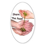 Share The Peas Oval Sticker