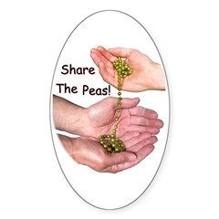Share The Peas Oval Decal