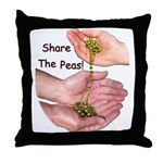 Share The Peas Throw Pillow