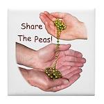 Share The Peas Tile Coaster