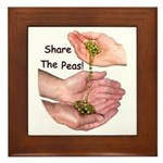 Share The Peas Framed Tile