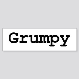Grumpy Bumper Sticker