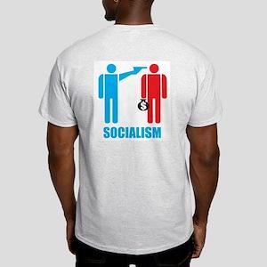 Socialism Logo On Light Colored T (back)