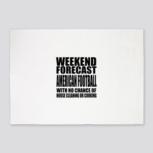 Weekend Forecast American Football 5'x7'Area Rug