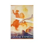 Railway Express Poster 1935 Rectangle Magnet