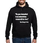 Patton Damnedest Quote Hoodie (dark)