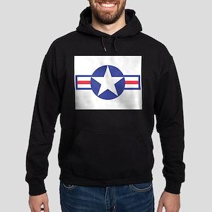 US USAF Aircraft Star Hoodie (dark)