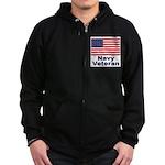 Navy Veteran Zip Hoodie (dark)