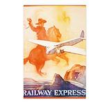 Railway Express Poster 1935 Postcards (8)