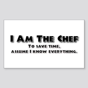 I am the Chef Rectangle Sticker