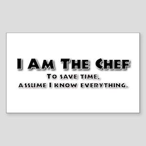 I am the Chef Rectangle Sticker
