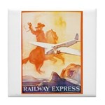 Railway Express Poster 1935 Tile Coaster