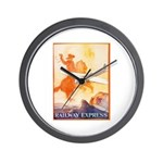 Railway Express Poster 1935 Wall Clock