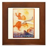 Railway Express Poster 1935 Framed Tile